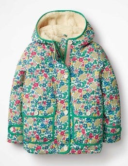 Multi Flowerbed Sherpa-Lined Anorak