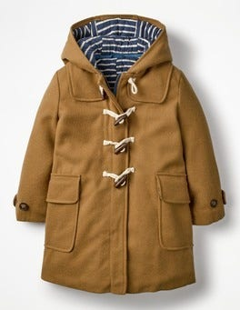 Rustic Brown Duffle Coat