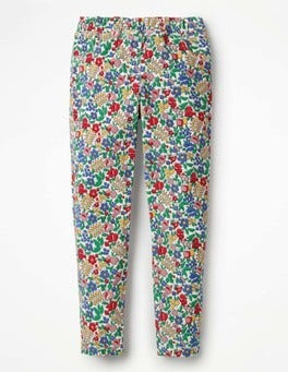 Multi Flowerbed Cord Leggings