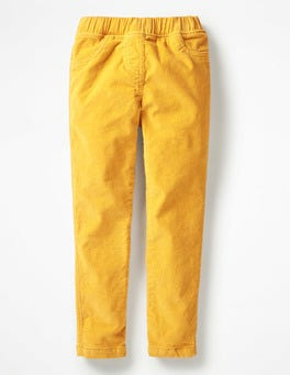 Honeycomb Yellow Cord Leggings