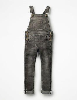 Skinny Fit Denim Overalls