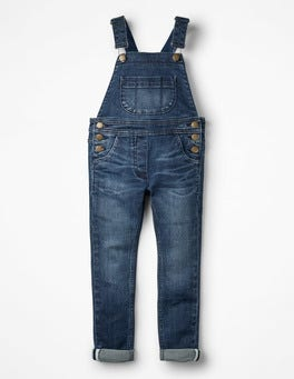 Mid Vintage Skinny Fit Denim Overalls