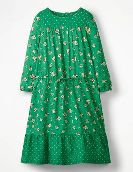 Green Pepper Vintage Posy Woven Hotchpotch Dress