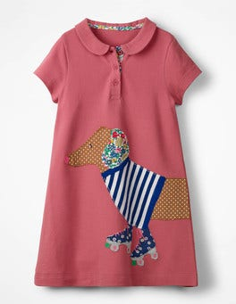 Big Appliqué Polo Dress