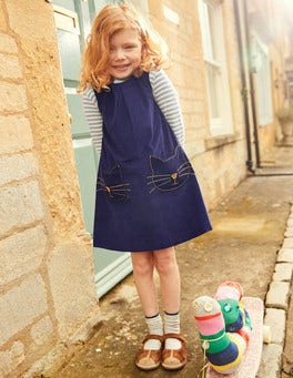 Novelty Pocket Cord Pinafore