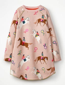 Cosy Printed Jersey Dress