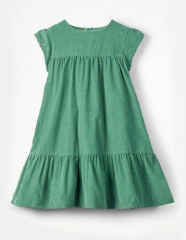 Jungle Green Pretty Cord Dress