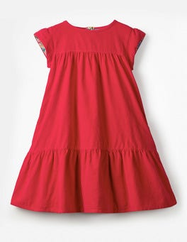 Poppy Red Pretty Cord Dress