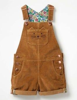 Rustic Brown Short Dungarees