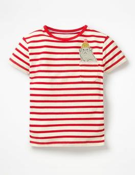 Pocket Appliqué T-shirt