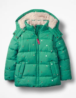 Jungle Green/Gold Spots Cosy Two-in-one Padded Jacket