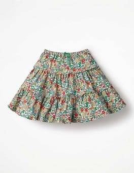 Multi Flowerbed Twirly Frilly Skirt