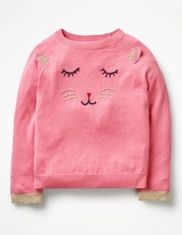 Formica Pink Cat Animal Antics Sweater