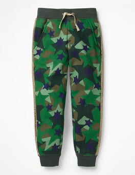 Army Green Camo Star Detailed Joggers