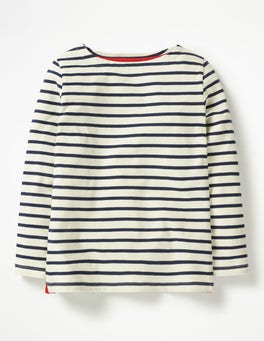 Ecru/School Navy Breton T-shirt