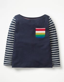 School Navy/Ecru Fun Breton T-shirt