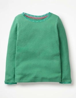 Jungle Green Supersoft Pointelle T-shirt
