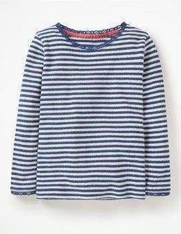 Starboard Blue/Ecru Supersoft Pointelle T-shirt