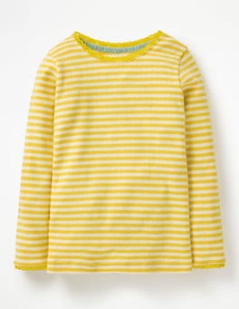 Honeycomb Yellow/Ecru Supersoft Pointelle T-shirt