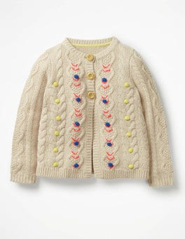 Ecru Cosy Cable Cardigan
