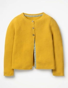 Honeycomb Yellow Everyday Cardigan