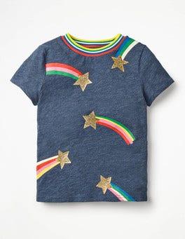 School Navy Marl Stars Time-to-Shine T-shirt