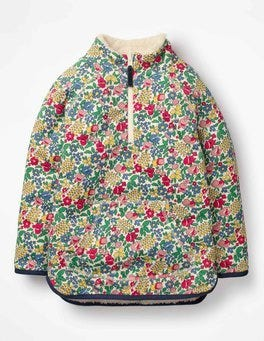 Multi Flowerbed Reversible Half-zip Sweatshirt