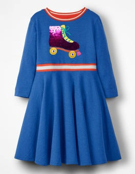 Cobalt Blue Roller Skate Colour-change Sequin Dress