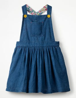 Indigo Blue Overall Dress