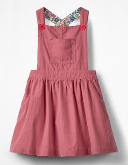 Rose Pink Dungaree Dress