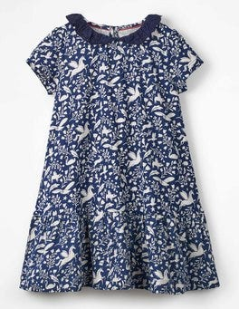 Prussian Blue Peculiar Pets Short-sleeved Jersey Dress