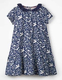 a18940d3cf7d Prussian Blue Peculiar Pets Short-sleeved Jersey Dress