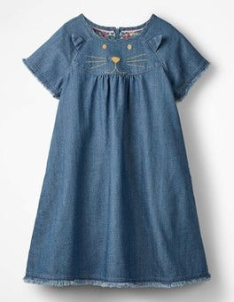 Mid Vintage Denim Novelty Dress
