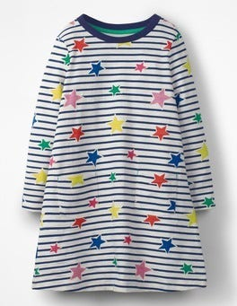 Star Stripe Stripy Jersey Dress