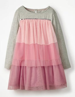 Jersey Tulle Dress