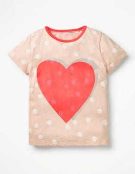 Provence Dusty Pink Heart Colour Pop T-shirt
