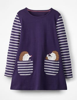 Prussian Blue Hedgehog Animal Pocket Tunic