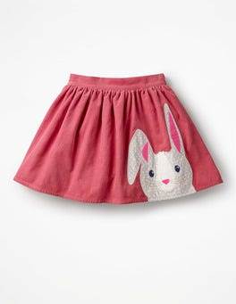 Rose Pink Bunny Animal Appliqué Skirt