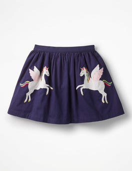 Prussian Blue Unicorns Novelty Skirt