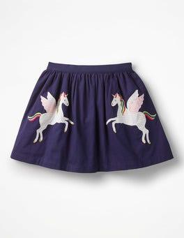 Prussian Blue Unicorns Novelty Skirt