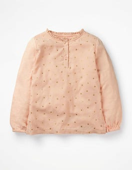 Provence Dusty Pink/Gold Stars Superstar Ruffle Top