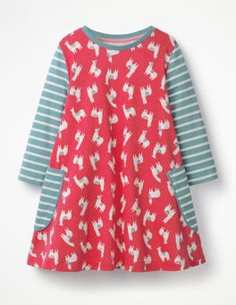 Pink Berry Llamas Printed Tunic