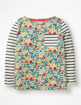 Multi Flowerbed Hotchpotch Pocket T-shirt