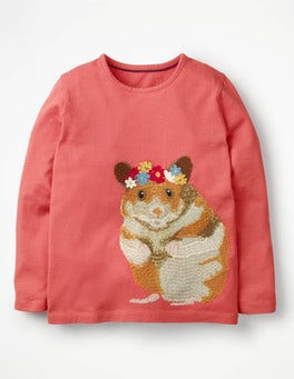 Autumn Rose Hamster Superstitch Appliqué T-shirt