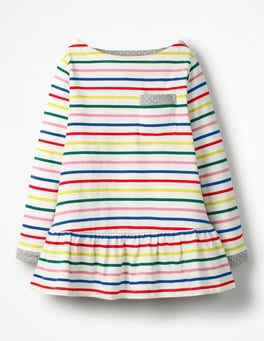 Rainbow Breton Stripy Pocket Tunic