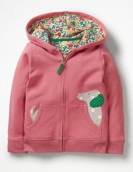 Autumn Rose Dog Novelty Zip-up Hoodie