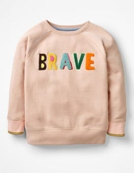 Provence Dusty Pink Brave Be Bold Detailed Sweatshirt