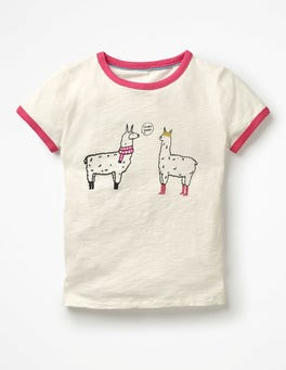 Ivory Llamas Fun Animals T-shirt