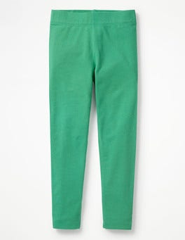 Jungle Green Plain Leggings