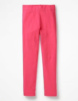 Pop Pink Plain Leggings